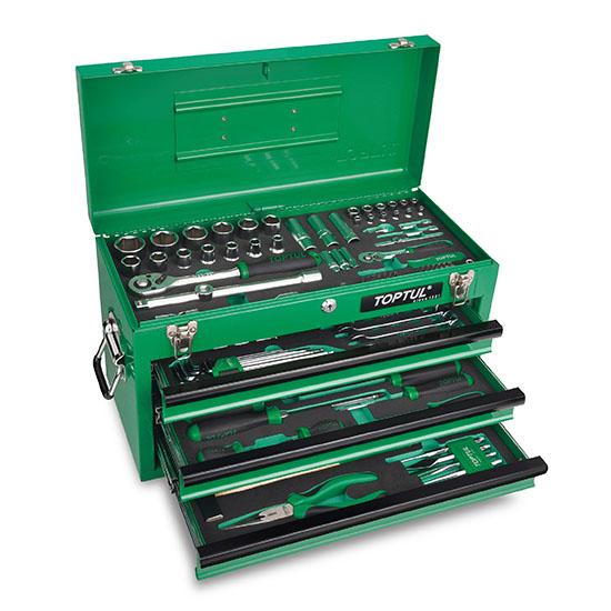 جعبه ابزار آهنی سبز 114 پارچه